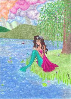 Mermaid art by Jennifer Landstedt