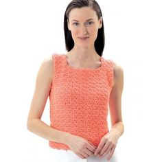 Lily Sugar 'n Cream Summer Top Free Crochet Pattern. Keep cool this summer in more ways than one. Lacy top is oh-so-pretty and feminine for the office, parties, or any occasion. Sizes S-XL (bust size 34.5 in [87.5 cm] to 42.5 in [108 cm]. Made in Lily Sugar 'n Cream with 4.5 mm (U.S. 7) …
