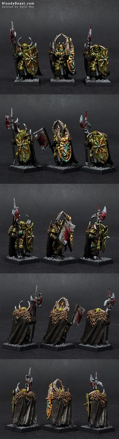 Nurgle Warriors of Chaos painted by Rafal Maj (BloodyBeast.com)