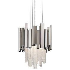 "Elan Skyline 11 3/4"" Wide Polished Nickel LED Mini Pendant - #12T78 | Lamps Plus"