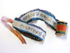 Embroidered Spool Books | Ephemeral Alchemy Gallery