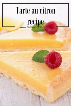 What better way to round off a dinner party than with the classic French dessert tarte au citron? Make your own delicious lemon tart with this recipe Classic French Desserts, French Food, Cheesecake, Lemon, Dishes, Recipes, Lemon Tarts, Pastries, Kitchens