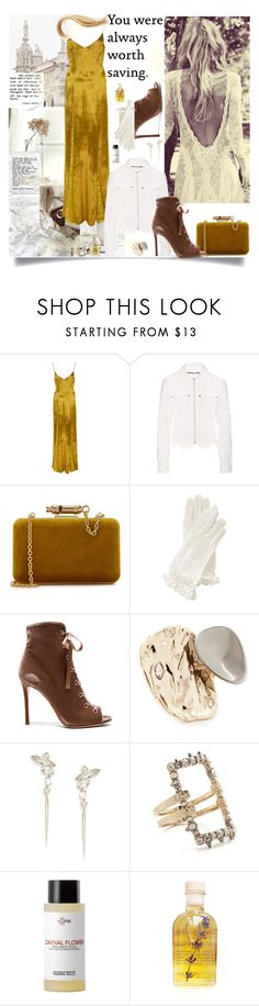 """""""Saviour"""" by sue-mes ❤ liked on Polyvore featuring Galvan, McQ by Alexander McQueen, Sophie Hulme, Gianvito Rossi, Alexis Bittar, Frédéric Malle, Lola's Apothecary and Oribe"""