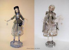 Russian+designer+art+dolls | Anna Zueva art dolls, Snow Maiden (left), Winter's Bouquet