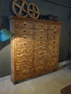 Interior design | decoration | home decor | furniture | Vintage monastery drawercabinet