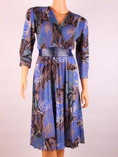 Vestido vintage, 80´s, Vintage day dress, Robe de jour retro, Vintage fashion, Retro fashion