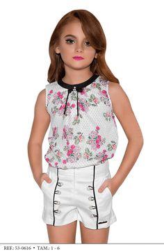 Conjunto Shorts y blusa niños de la manera Miss Cake y Jóvenes 530616