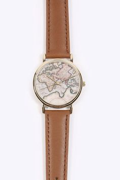 Globe Leather Watch