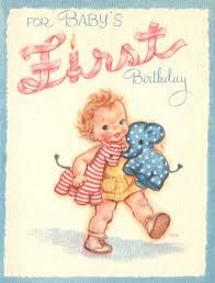 ePier - Baby's First Birthday Vintage Greeting Card Paper Crafts First Birthday Party Favor, First Birthday Cards, Vintage Birthday Cards, Baby First Birthday, Vintage Greeting Cards, First Birthdays, Happy Birthday, Get Well Cards, Baby Cards