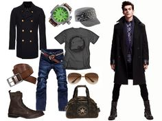 The trend in men's fashion this season is the military look. If you're looking to get a more fashion-forward style, this is a trendier personal look.