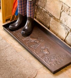 Waterproof Moose Boot Tray with Antique Bronze Finish
