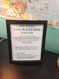 This is such a special station. The Great (Com)Mission Station is all about stirring up a desire in the hearts of the next gene… – Preteen Prayer Wall, Prayer Room, Prayer Corner, Prayer Board, Church Activities, Bible Activities, Church Camp, Kids Church, Prayer Ministry