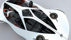 Honda Air Concept, Flying Car, Futuristic Vehicle