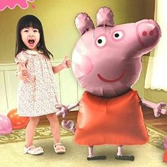 Amazon.com: Peppa Pig Air Walker Balloon Party Birthday Decoration: Toys & Games