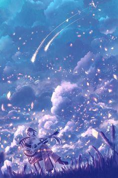 「紫星の調べ」/「防人」のイラスト [pixiv]