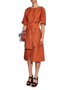 Osman Hemera metallic-jacquard dress
