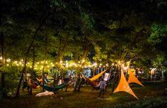 hammocks and light @ electric castle Romania 2014