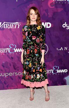 Emma Stone Print Dress