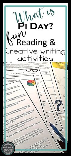 "Celebrate Pi Day!  Everyone can participate in the fun with this informational text.  Strengthen comprehension and creative writing skills while learning about this fun ""holiday.""  Great for middle school and intermediate students -- perfect sub plan.  Print and go!"