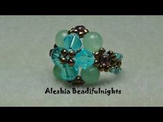 Become my friend on facebook and show me what you have made and see what others have made. Be inspired. http://www.facebook.com/aleshia.beadifulnights    This ring might be good for you if your a beginner not to hard to understand I hope. I love making rings like this because they use small amounts of leftover beads. I only had four of the green g...