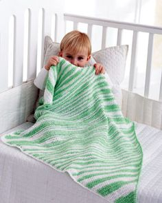 Sweet Striped Crochet Baby Blanket ~ free pattern