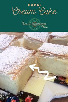 kremówka (cream cookie), pastry cream sandwiched between two layers of puff pastry, very similar to the French Napoleaon, became famous when Pope John Paul II reminisced about the pastry from a bakery in his hometown of Wadowice. Polish Desserts, Polish Recipes, Frozen Puff Pastry, Pope John, Breakfast Items, John Paul, Cookies And Cream, Cream Cake, What To Cook