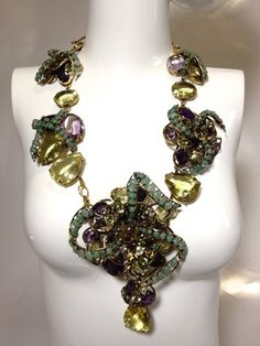 Iradj C D Convertible Dimensional 2 Strands 2way Collar 2 Necklace Pendant Pin | eBay
