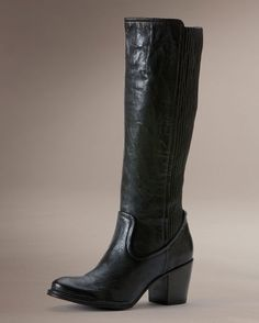 Women's Lucinda Scrunch Tall Boot - Black