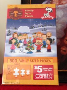 Kohls Charlie Brown Christmas Peanuts Family Jigsaw Puzzle 500 pc