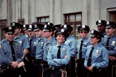 Stock Photo : Group of male and; female police officers, NY