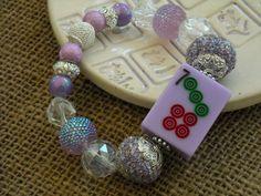 Light Purple Tile Mahjong Bracelet - Jesse James Beads Jewelry - Mah jong Jewelry by MahjongJewelry on Etsy