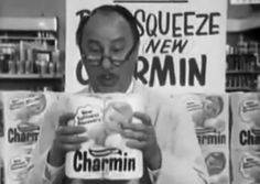 Mr. George Whipple was a fictional supermarket manager featured in television commercials and print advertisements starting in 1964 for Charmin toilet paper.