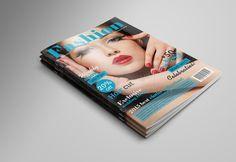 Fashion Magazine Cover by Nirmola Roy on @creativemarket