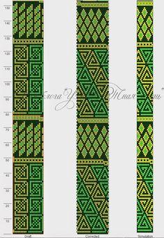 """Схема для вязания бисерного жгута """"Пэчворк вариация на тему"""" на 20 бисерин…"""