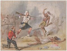 Colour Sergeant W. Gardiner - 42nd Foot, Rescuing Lieut. Colonel Cameron at Bareilly, 5th May 1858 during the Indian Mutiny