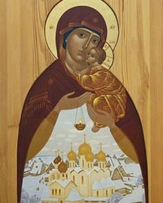 Gold Most Beautiful Mary and the Child Jesus❤️ Russian Painting, Sacred Architecture, Holding Baby, Orthodox Icons, Sacred Art, Bible Art, Religious Art, Our Lady, Christianity