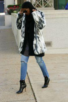 DIY faux fur