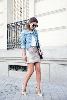 Sequined_Skirt-Denim_Jacket-Street_Style-outfit-15 by collagevintageblog, via Flickr