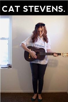 Take your basic cat costume one step further with a nod to a musical legend. | 31 Insanely Clever Last-Minute Halloween Costumes