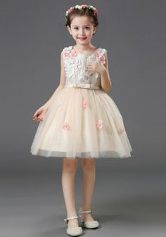 Girls Kids Flower Bridesmaid Party Princess Prom Wedding Christening Fn