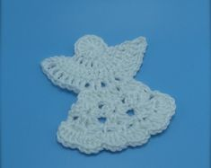 Items similar to Crochet Guardian Angel - Applique or Ornament - Set of Two on Etsy Crochet Christmas Ornaments, Christmas Crochet Patterns, Crochet Snowflakes, Angel Ornaments, Christmas Angels, Felt Ornaments, Christmas 2019, Crochet Ideas, Christmas Decor
