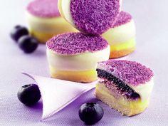 Ricetta Mignon alla viola e mirtilli