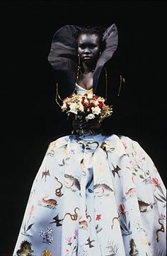 The Statement Piece - A Vivienne Westwood Wedding Gown.  I love this one with animals all over the skirt.  Bravo Vivianne