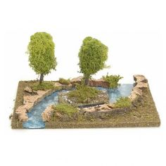 Bras de rivière avec îlot pour crèche de Noël | vente en ligne sur HOLYART