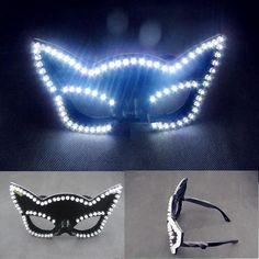 Newest Led Illuminated Carnival Masquerade Party Fasion Mask LED Luminous Flashing Glasses Nightclub Costume Stage Wear