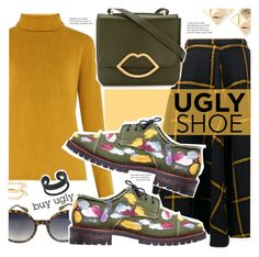 """Ugly Shoe"" by stacey-lynne ❤ liked on Polyvore featuring Valentino, JOUR/NÉ, Kate Spade, Chloé, Anouki, Lulu Guinness and MANGO"