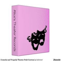 Comedy and Tragedy Theater Pink Custom Binder