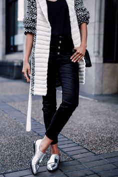 VivaLuxury - Fashion Blog by Annabelle Fleur: BLACK VELVET - 7 FOR ALL MANKIND The Skinny velvet jeans & cozy wrap sweater in black and white stripe | CHANEL Boy flap bag in perforated leather | LOEFFLEL RANDALL Rosa loafers | DIOR So Real 48mm sunglasses | TIFFANY & CO Atlas open ring November 13, 2015