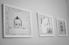 "DIY Bathroom Picture Decor - I think that ""being a mom"" must be synonymous with ""taking photos of your kid in the bath tub."" From that very first bath, to the o…"