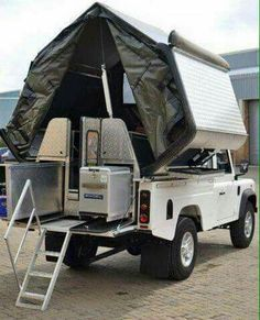 Land Rover Defender 110 pick up  dormobile convert. WAAAAT!! This is my all time favourite car!